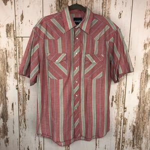 Wrangler Shirt, Pearl Snaps, Size Medium